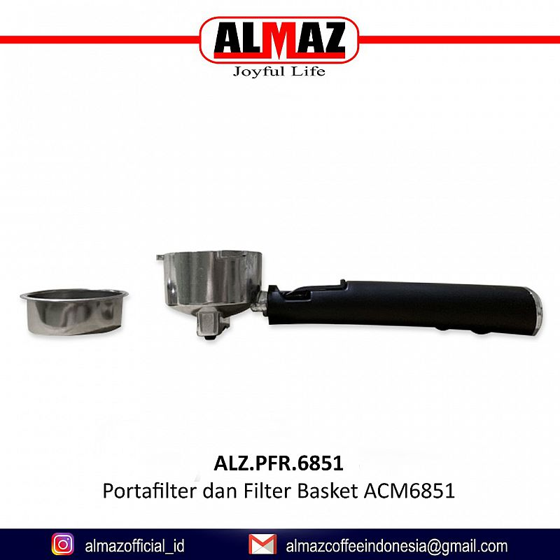 ALMAZ Portafilter dan Filter Basket Double ACM6851