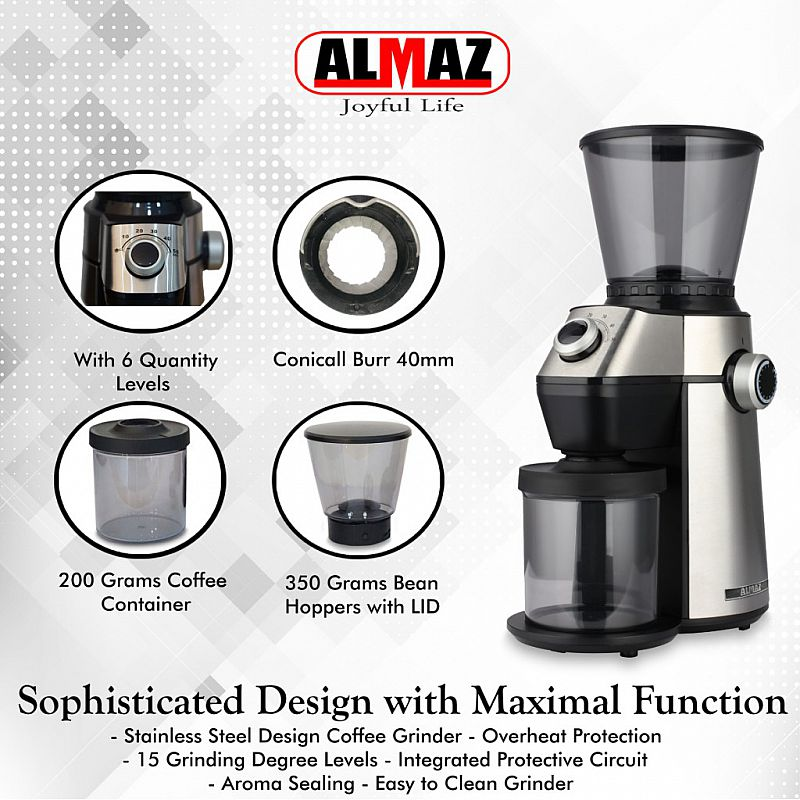 ALMAZ Coffee Grinder KG589 Conical Burr